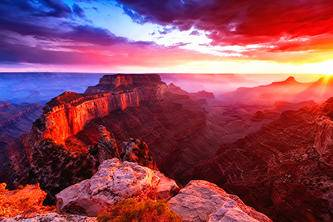 13-Day West Coast Tour From Denver: Badlands, Rushmore, Yellowstone, Grand Canyon, San Francisco & California Theme Parks
