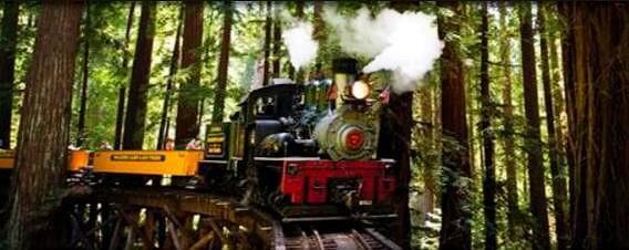 1-Day Santa Cruz Municipal Wharf, Roaring Camp, Steam Train, Gilroy Premium Outlets Tour