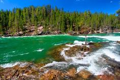 canada to usa bus tours:5-Day Yellowstone National Park Bus Tour Package
