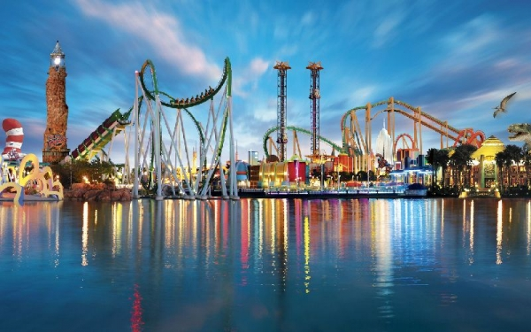 2 for 1 vegas helicopter strip tour:2-Day Universal Studios Orlando & Islands of Adventure Theme Park Tour Package From Miami