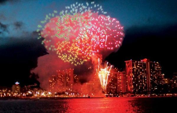 Hilton Fireworks Dinner Sail