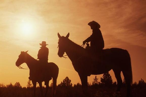 The Wild West - Sunset Dinner Ride by Horseback