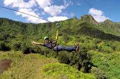 helikopter hawaii big island:Hawaii Kualoa Zipline and Ocean Tour