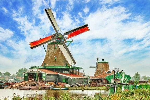 Amsterdam City and Zaanse Schans Windmills Tour