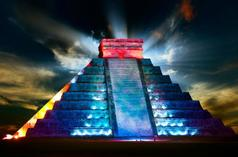 hop on hop off trolley tour:Full-Day Chichen Itza Light & Sound Tour: Kukulkan Nights