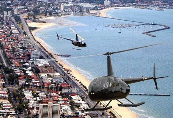20 Min Melbourne  and St Kilda Coastal Private Helicopter Flight for 3