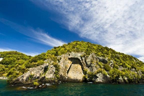 Lake Taupo Kayaking to Maori Rock Carvings