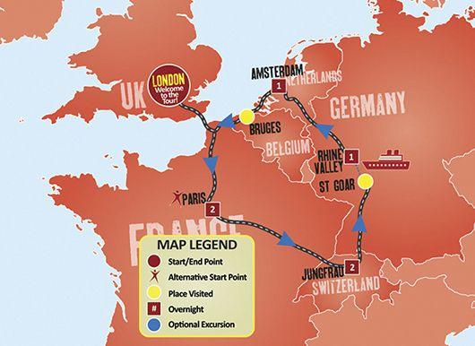 7-Day New Year's in Europe Tour from London