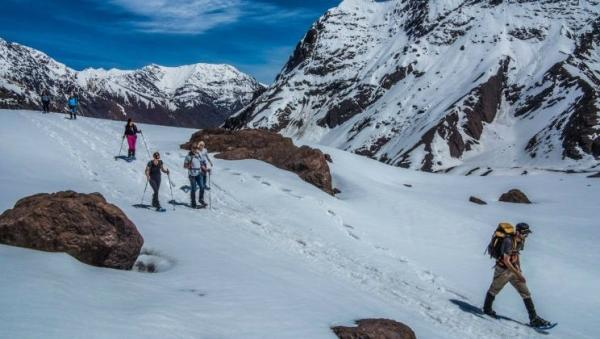 Andes Mountains Snowshoeing Hike From Santiago