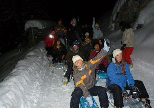 2.5-Hour Night Sledding Adventure from Interlaken