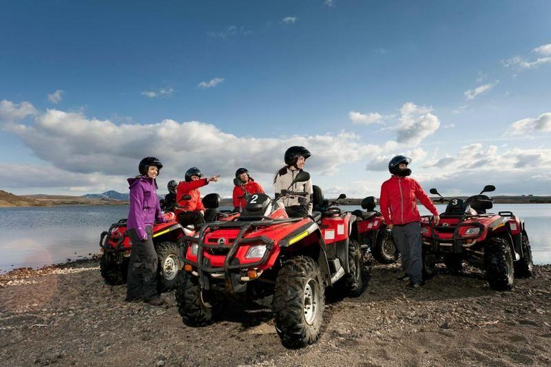 Mt. Hafrafell ATV Sightseeing and Golden Circle Tour