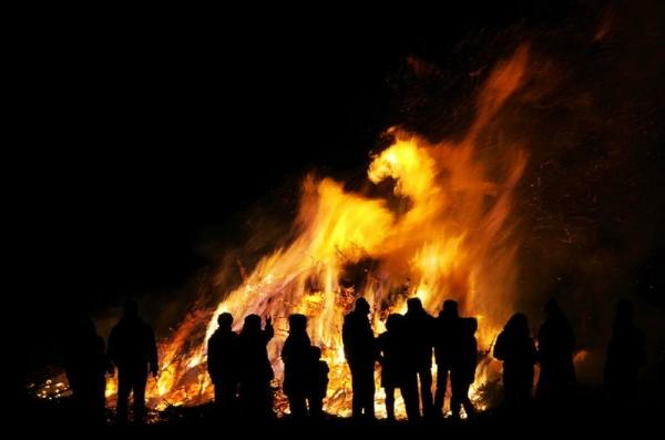 Iceland New Year's Eve Bonfire