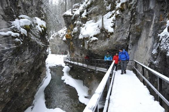 Johnston Canyon Afternoon Icewalk