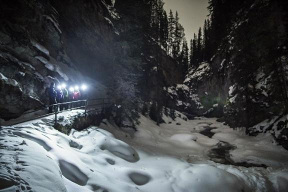 Johnston Canyon Evening Icewalk - Spring
