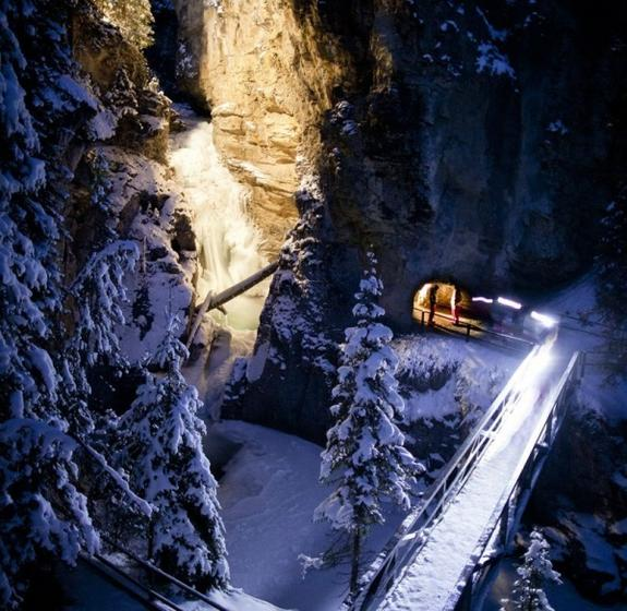 Johnston Canyon Evening Icewalk