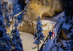 Johnston Canyon Evening Icewalk - Spring