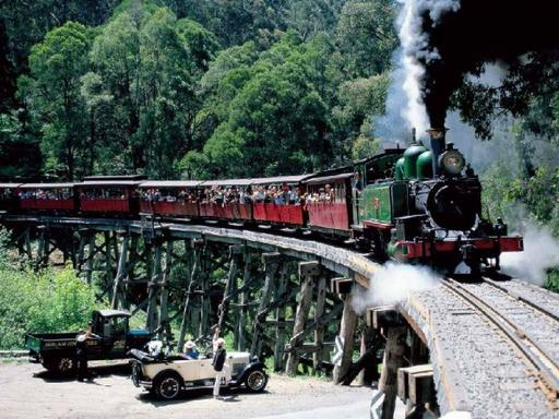 Puffing Billy Train Ride & Melbourne City Tour
