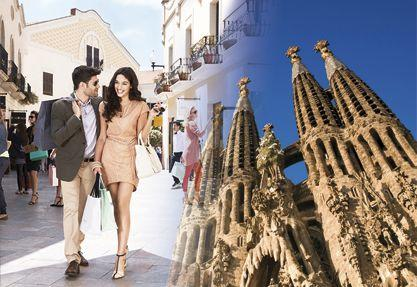 Combo Tour: Gaudi Tour + Sagrada Familia Tickets + La Roca Village Shopping Tour