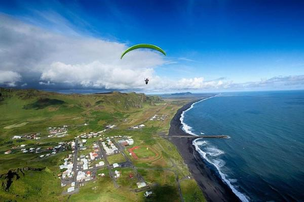 South Coast Adventure Tour: Waterfalls, Glaciers, and Paragliding