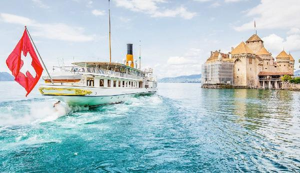 Chillon Castle Day Trip from Lausanne w/ Steamer Cruise**All Inclusive with Sightseeing in Lavaux and Vevey**