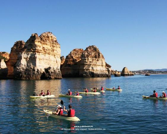 Ponta da Piedade Catamaran Cruise w/ Kayaking
