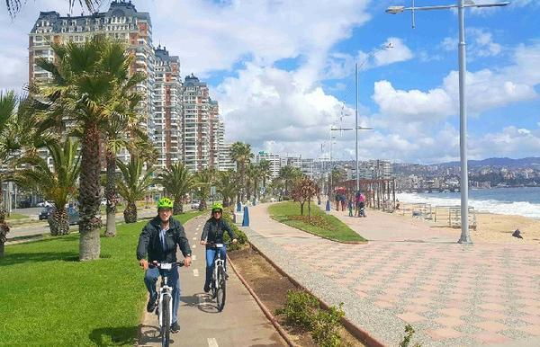 Private Concon, Vina del Mar & Valparaiso Day Trip & Bike Tour
