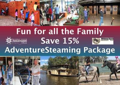 AdventureSteamer - Family Deal - You Choose Your Paddlesteamer Cruise Time