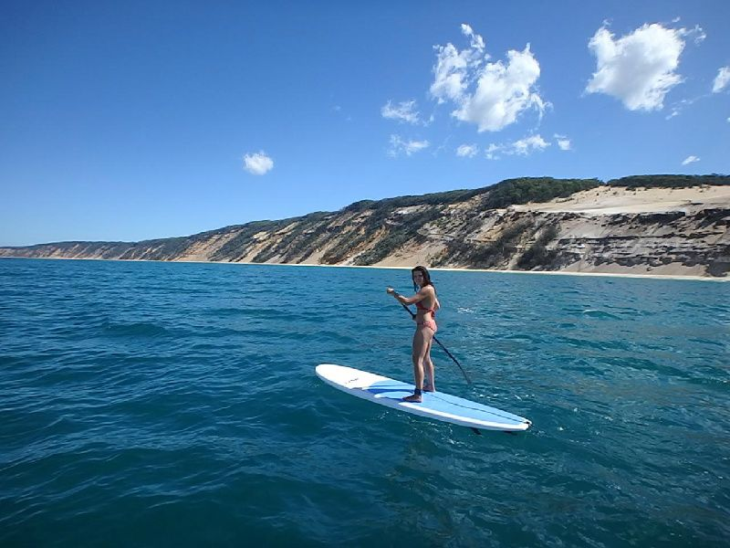 Noosa Stand Up Paddle Lessons at Double Island Point from Tours4Fun Product Image