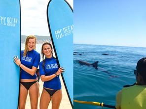 Rainbow Beach Combo Adventure: Dolphin View Kayak Tour + Surf Lesson