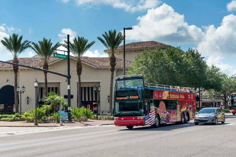Orlando Hop-On Hop-Off Sightseeing Tour: Hot Spots in Central Florida + Theme Park Express