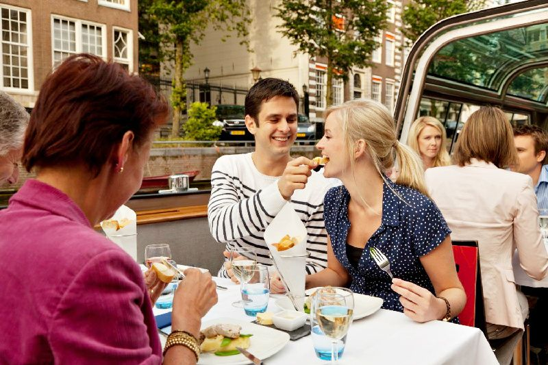 Deluxe Amsterdam Dinner Cruise**4-Course Dinner | Unlimited Beverages | Vegetarian Option Available**