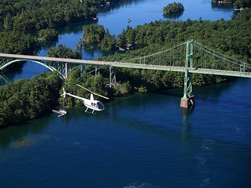 Thousand Islands & Kingston Helicopter Tour with Boldt and Singer Castles from Gananoque