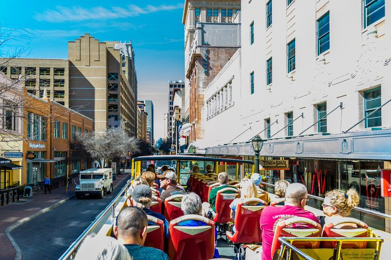 San Antonio Hop-On Hop-Off Tour W/ River Walk Cruise & Tower of the Americas - 48 Hours