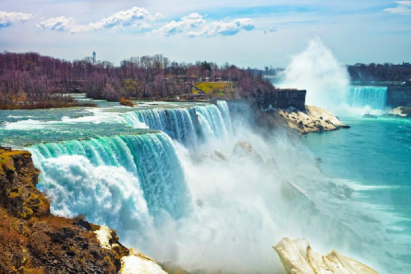 Niagara Falls Tour & Flight from NYC - US Side**Roundtrip airfare ticket included**