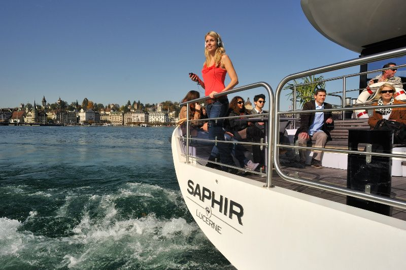 1-Hour Lake Lucerne Panoramic Cruise**Saphir Yacht || Audio Guide in 13 Languages**