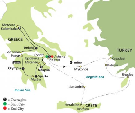 Photo 1: Greece & The Aegean In Outside Stateroom