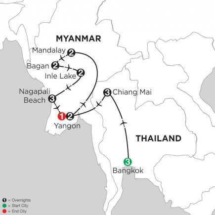 Photo 1: Mingalabar Myanmar With Bangkok, Chiang Mai & Ngapali Beach