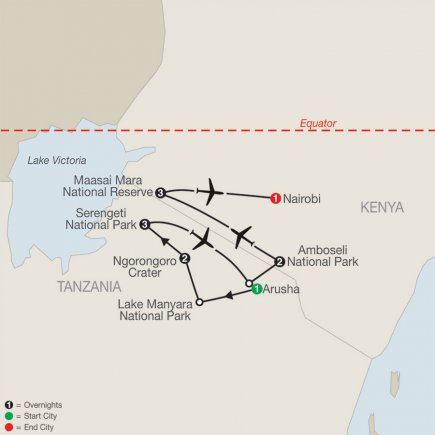 East Africa:  In Search Of The Big Five With Nairobi