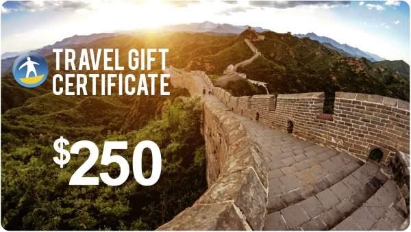 Tours4Fun Gift Certificate - $250