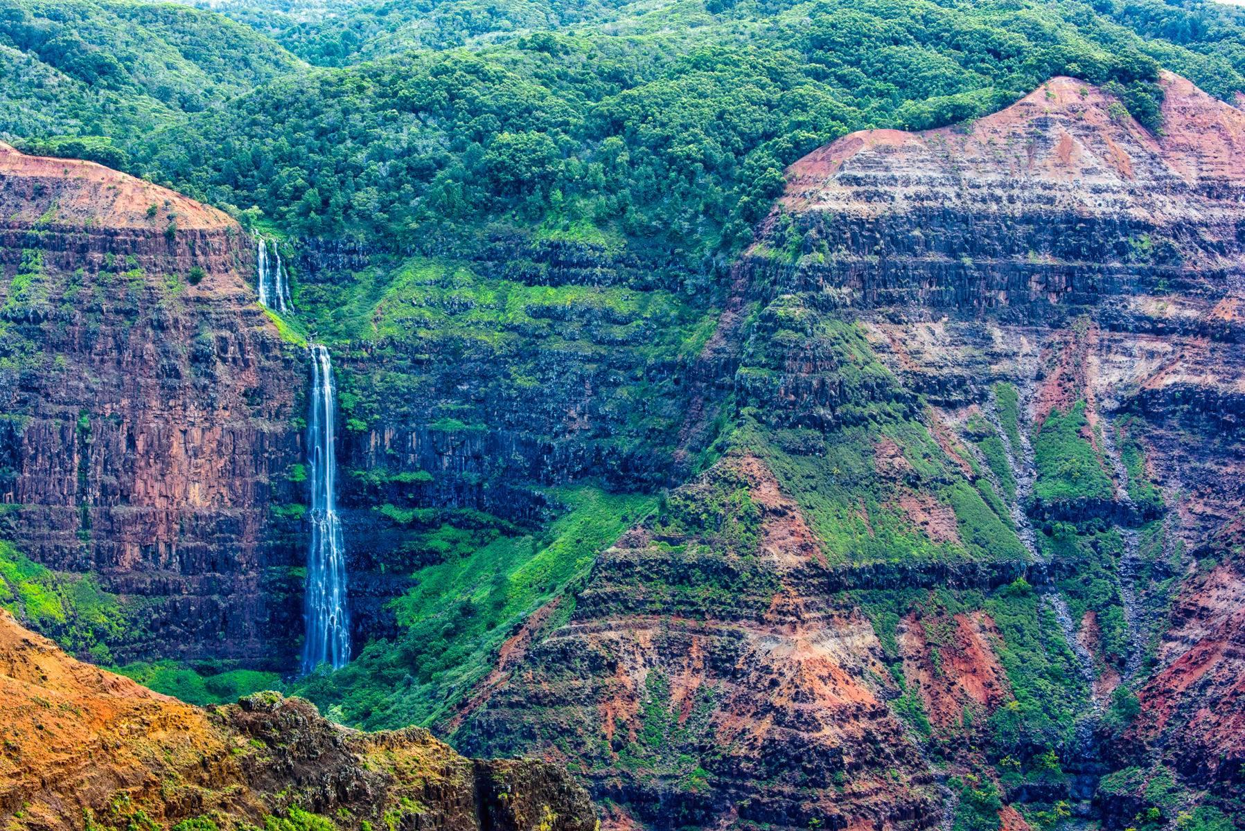 Half Day Tour to Waimea Canyon & Fern Grotto, Kauai