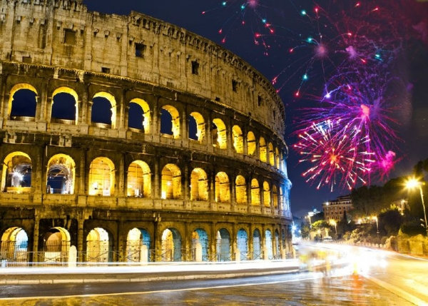 Rome New Year`s Eve Dinner and Night Tour