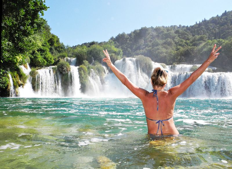 2-Day Plitvice Lakes and Krka National Park Adventure Tour from Split