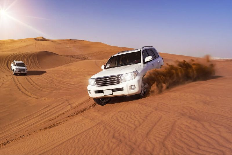 Dubai Morning Dunes Bashing With Sand Boarding and Camel Ride