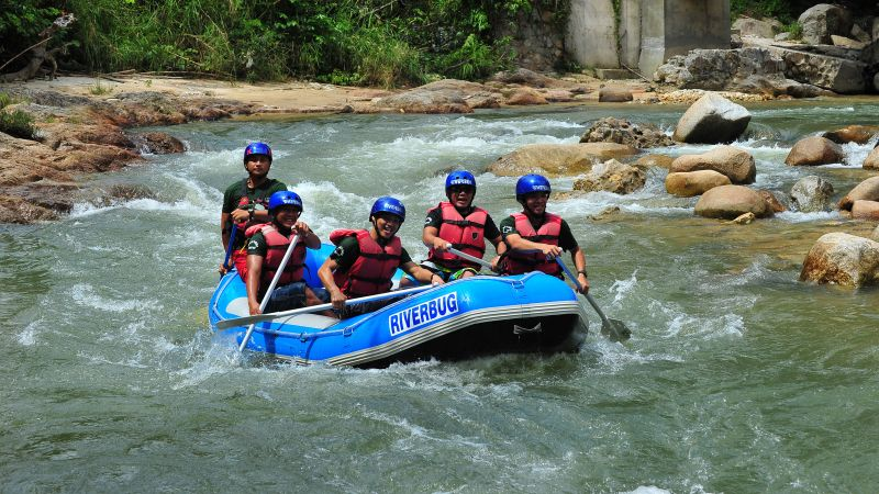 Shared Tour: White Water Rafting with Lunch from Kuala Lumpur