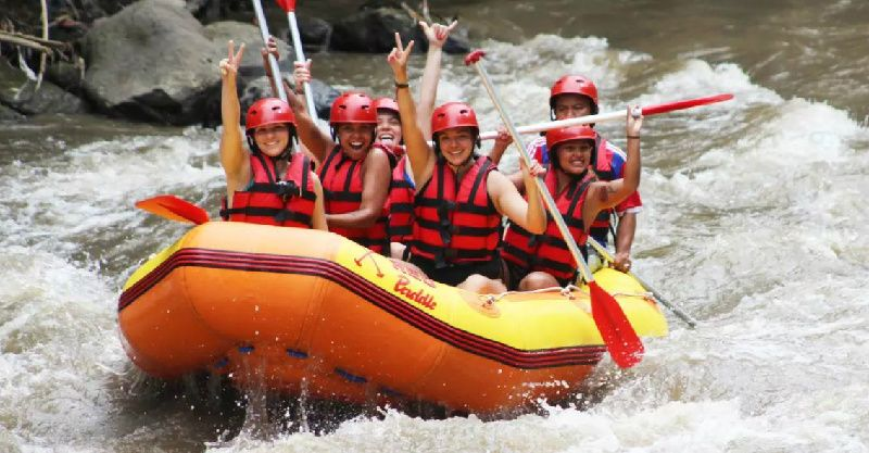 1-Day Ayung White Water Rafting with Red Paddles Tour