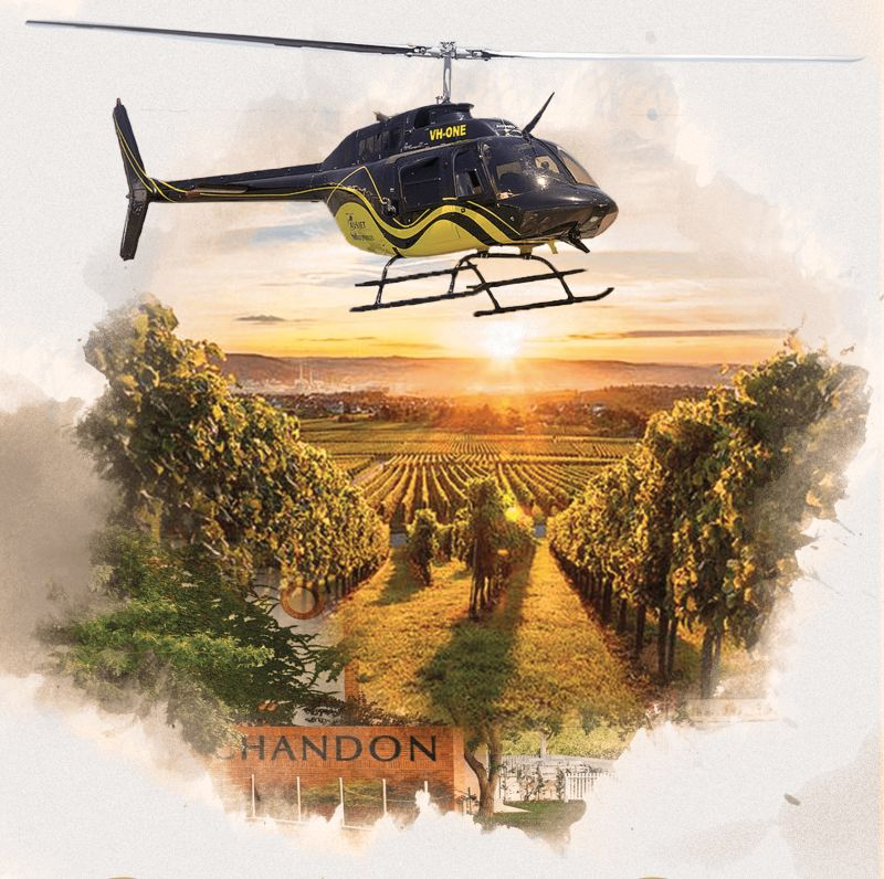 Yarra Valley Helicopter and Domaine Chandon Private Winery Tour