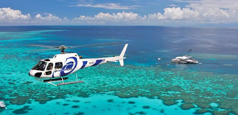 Outer Reef Snorkeling and Helicopter Flight
