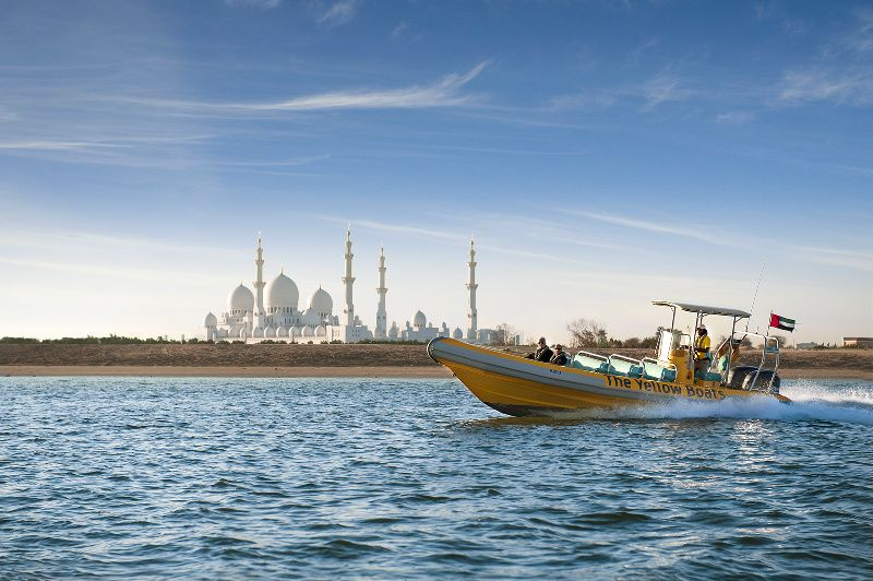The Yellow Boats - Emirates Palace, Royal Palaces & Grand Mosque