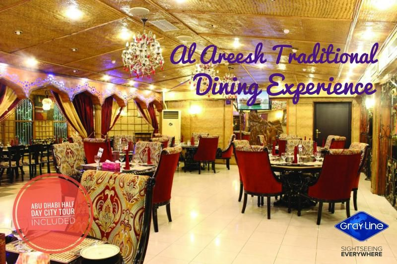 "DISCOVER ABU DHABI Tour with  Traditional Dining Experience ""AL AREESH"" in Abu Dhabi"