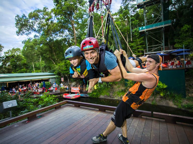 Cairns Sunrise Bungy Jump and Giant Swing Combo Package W/ Breakfast